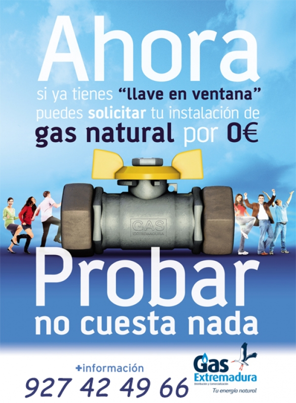 Gas Natural, cómodo, barato